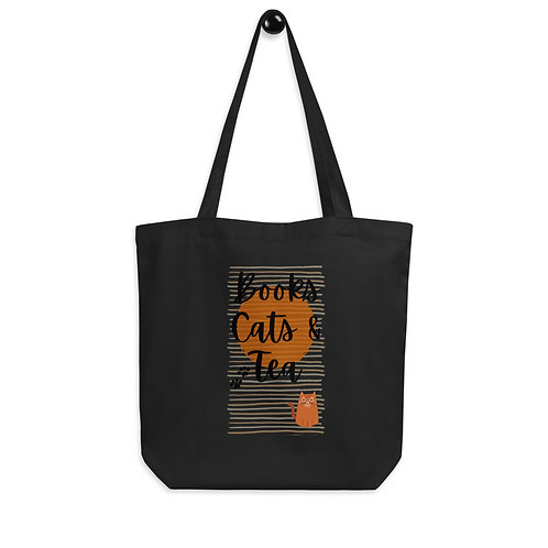 Books, Cats & Tea Eco Tote Bag
