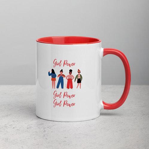 Girl Power Mug with Color Inside