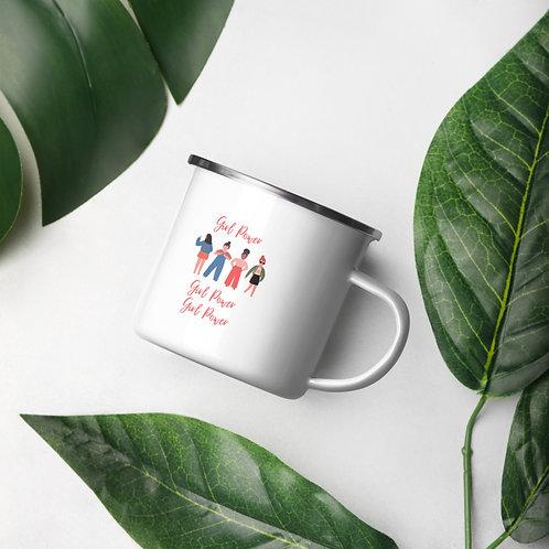 Girl Power Enamel Mug