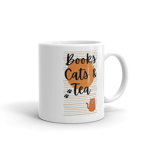 Books, Cats & Tea Mug