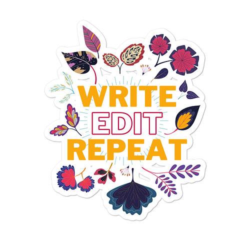 WRITE EDIT REPEAT Stickers