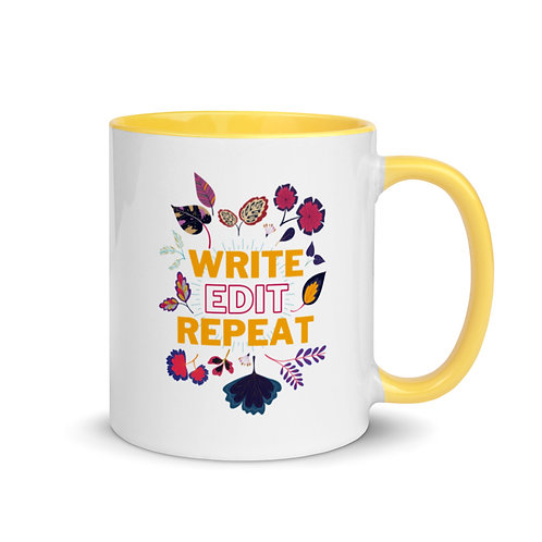 WRITE EDIT REPEAT Mug with Color Inside