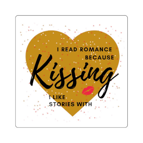 Kissing Square Stickers