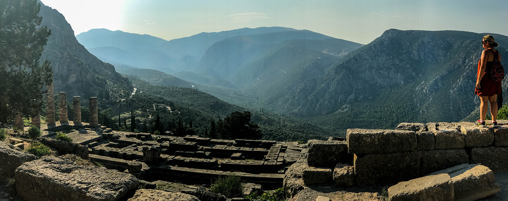 Temple of Apollo overlooking the Olive Tree Valley