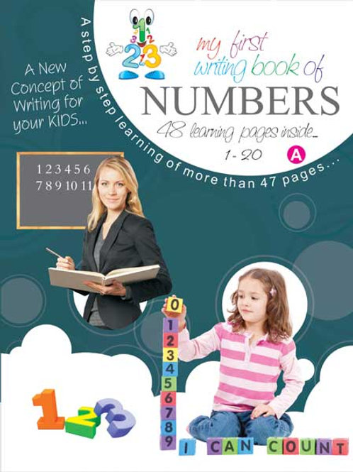 My First Writing Book-Numbers – 1-20 (A)
