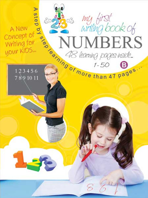 My First Writing Book-Numbers – 1-50 (B)