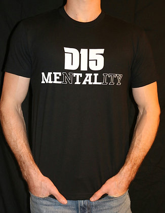 Mens Black D15 Mentality T-Shirt