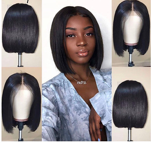 Short Bob Wigs Human Hair Lace Front Wigs For Black Women Brazilian Virgin Hair