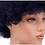 "Thumbnail: Afro Wig Short Curly Human Hair Wig, 8"" Medium Length, Jet Black"