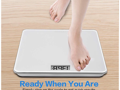 4 High Precision Sensors Body Weight Scale with Step-On, Auto-Calibrated & Auto