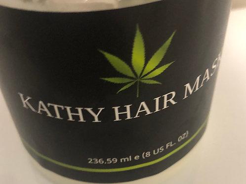 Kathy hair mask pou cheve naturel ki rèd, ki ap kasse, ki gen kap. 8oz