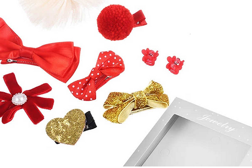 MISM 1Box Set=10PCS Children Hair Accessories Princess Crown Tiara Hairgrip Bo