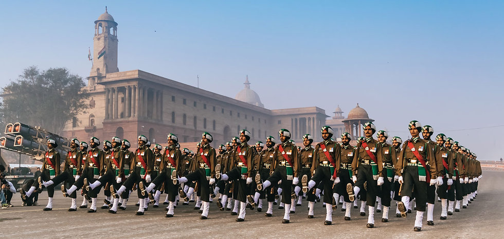 Soldiers-of-Indian-Army-marching-at-Rajp