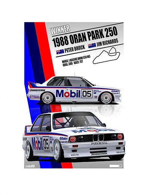 HMSA 150: 1988 BMW M3 Brock's Oran Park Wn