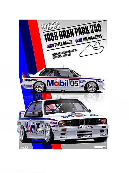 1988 BMW M3 Brock's Oran Park Wn