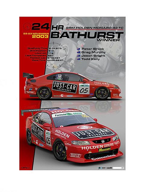 HMSA SL02: 2003 Bathurst 24hr Winner