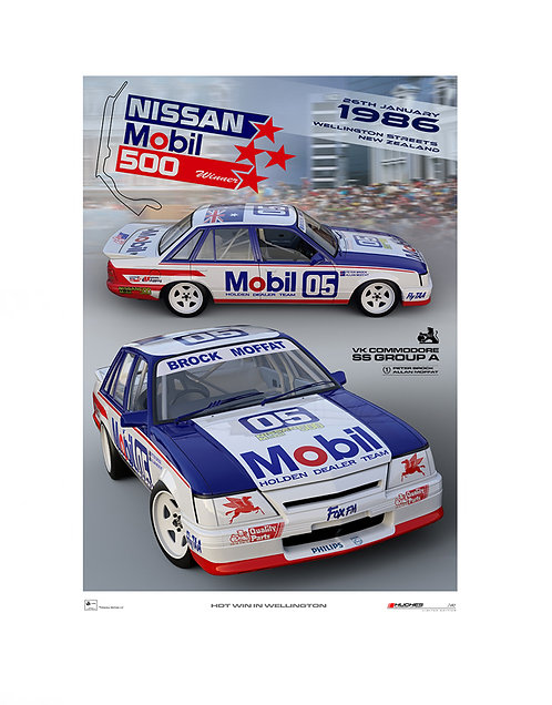 HMSA 245: 1986 Wellington 500. Brock/Moffat