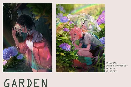 Original GArden Prints A4/A3