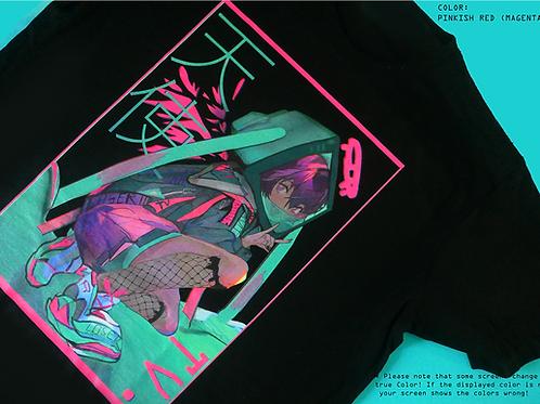 Tv-chan Angel T-Shirt Schwarz