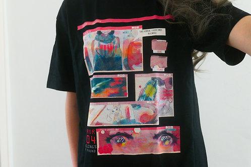 Aesthetic Panel T-Shirt in black