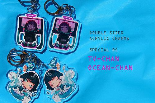 Clear Acrylic Keychains special Oc Edition