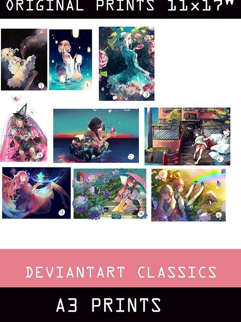"""Deviantart Classics PRINTS A3 / 11x17"""""""