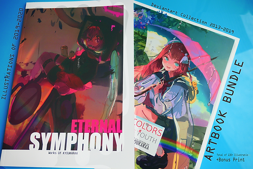 "Artbook bundle (""Colors of Youth"" and ""Eternal Symphony"") (save 10$)"