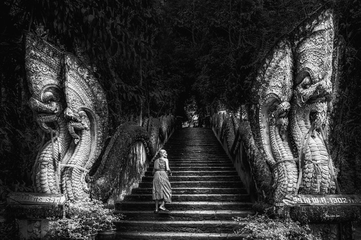 Dragons and the Monk-bw-DSC_8397