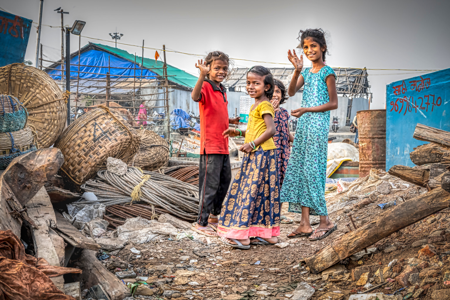 Les petites filles de Versova Jetty