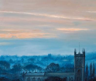 Larkhall Church at Sunrise