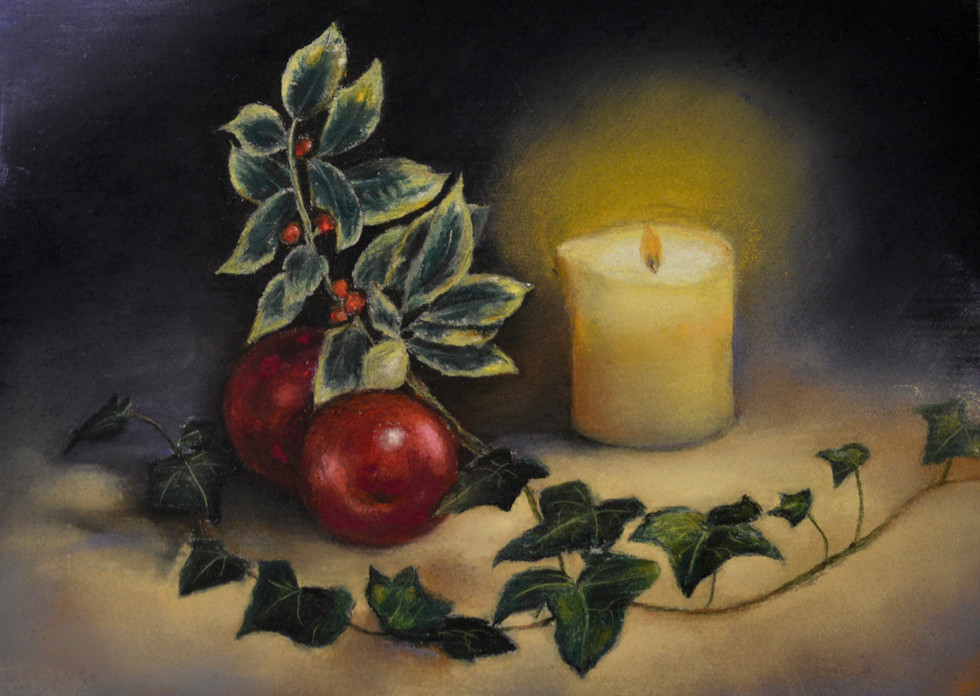 Christmas Still Life by candle light