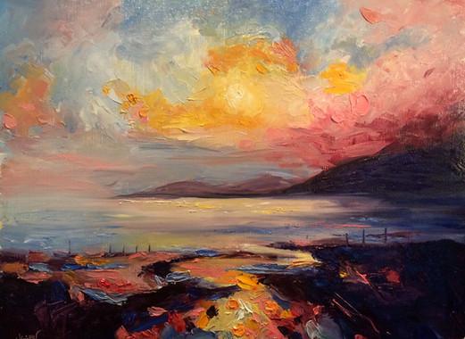 Post-Impressionist Sunset