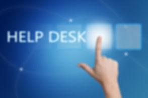 Help Desk - hand pressing button on inte