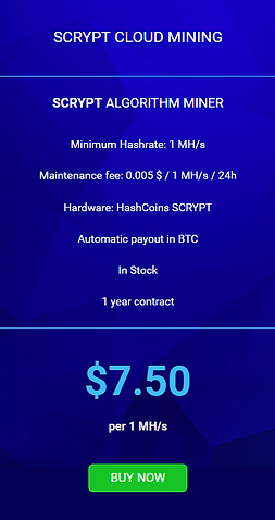 The service charge is equal to - 0.005 $ / 1 MH / s / 24h.