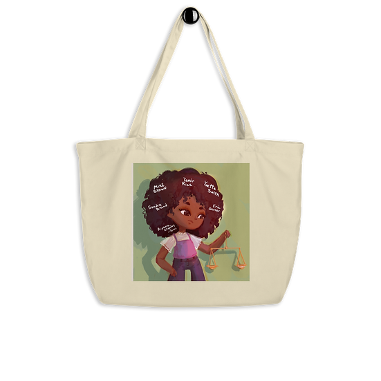 J is for Justice Large Tote