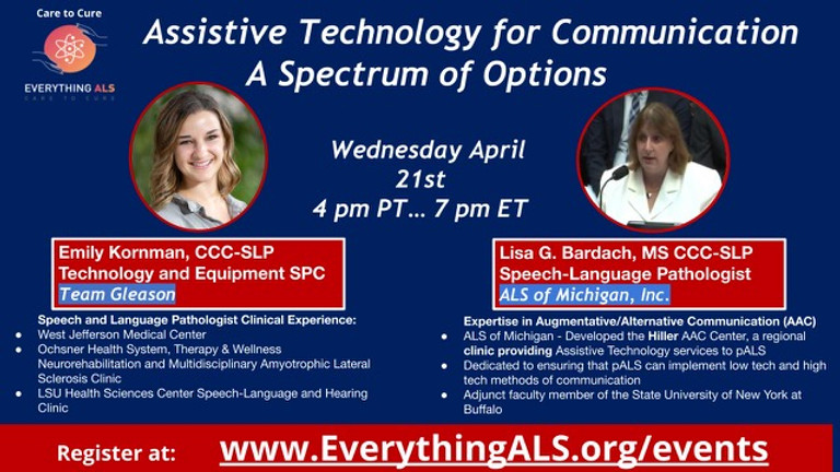 Assistive Technology for Communication, A Spectrum of Options