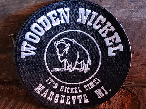 Wooden Nickel Sew-On Patch