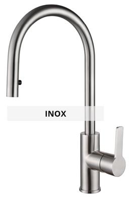 Inox sink mixer technical sheet