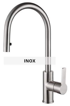 Inox sink mixer technical sheet