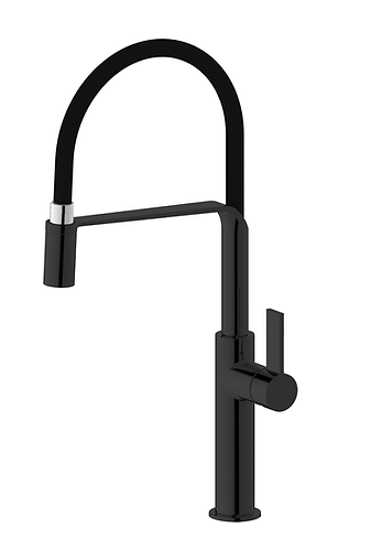 Volanta Double Black Designer Sink Mixer