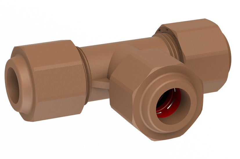 Tee CxCxC , 15mm