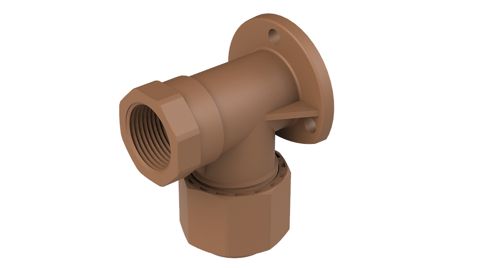 "Wallplate Elbow FxC , 3/4"" x 22mm"