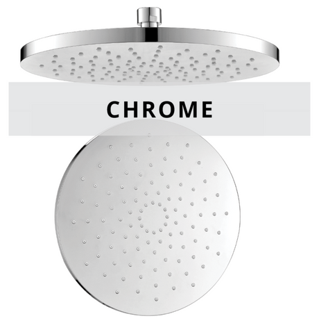 Chrome shower series technical drawings
