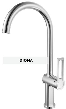 Diona sink mixer technical sheet