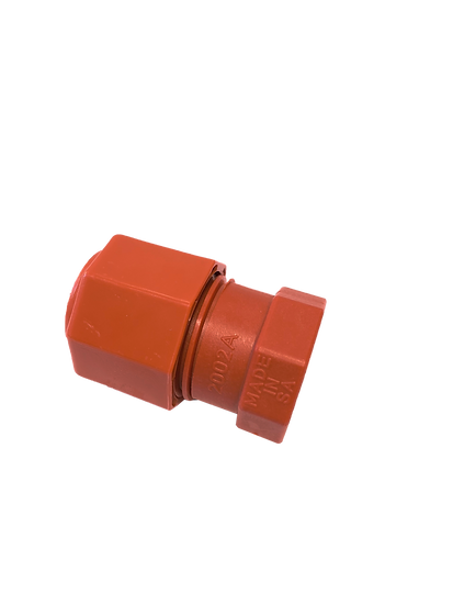"Straight Coupler Red, CxF, 15mm x 3/4"""