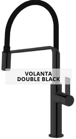 volanta double black sink mixer technical sheet