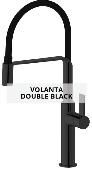 volanta double black sink mixer technical sheet