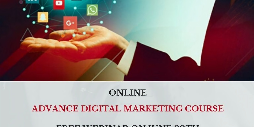 Free Webinar on Advance Digital Marketing