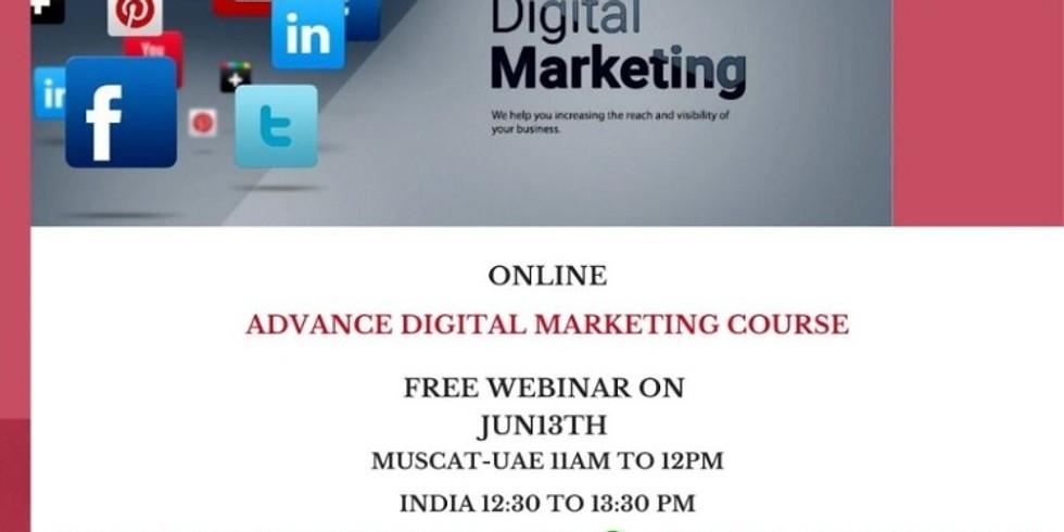 Online Advance Digital Marketing Free Webinar