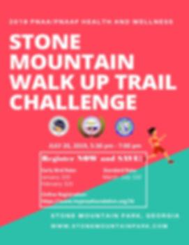 Stone Mountain Walk up trail  challenge.